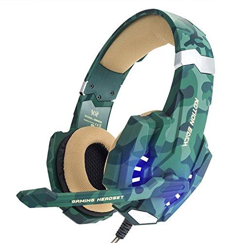 Gaming headphones led bluetooth - headphones gaming camo