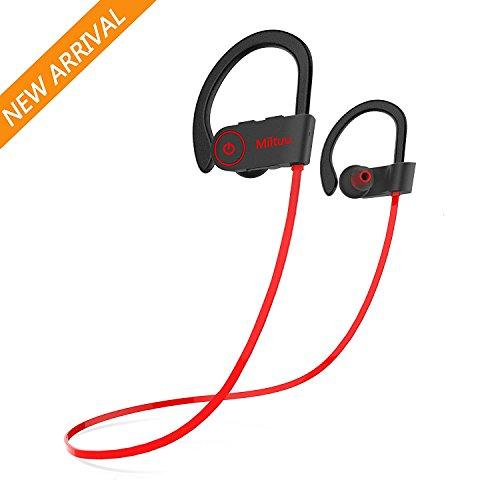 Bluetooth headphones sports sweatproof - headphones bluetooth red