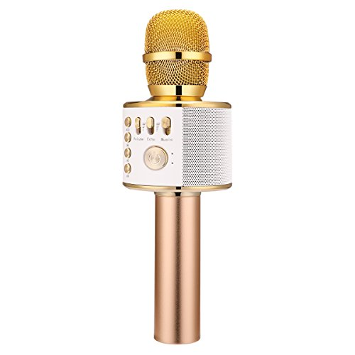 Bonaok Portable Wireless Karaoke Microphone 2200mah Built