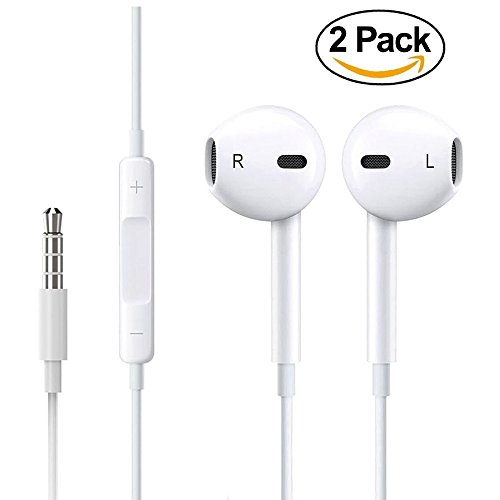 Iphone earbuds 2 pack - iphone 7 earbuds under 10