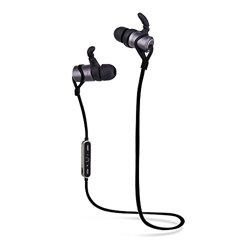 bluetooth headphones wireless 4 1 magnetic earbuds stereo earphones heavy bass stereo in ear. Black Bedroom Furniture Sets. Home Design Ideas