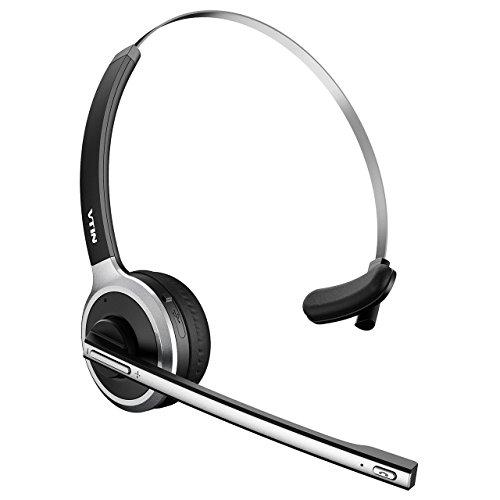 VTIN Bluetooth Headset With Microphone, Wireless Headset Computer Headphone Lightweight And