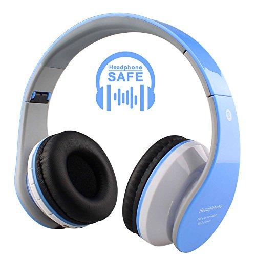 Bluetooth earphones for kids girls - earphones with microphone reinforced cord