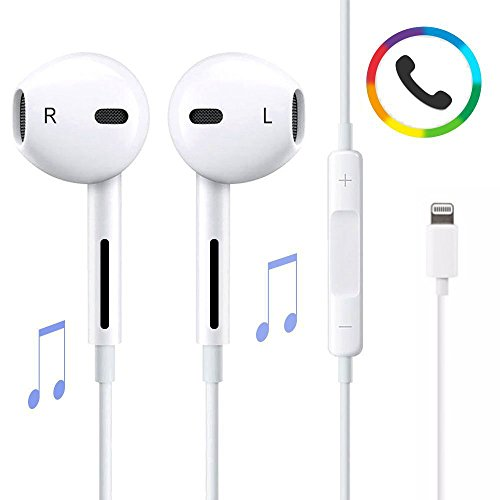 Lightning earphones with microphone - headphones with microphone noise cancelling