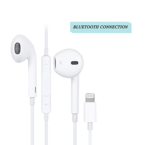 Earbuds with microphone and volume control iphone - lightning earbuds with microphone for iphone