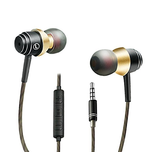 SDFLAYER In Ear Headphones Silverlight Earbuds With Line