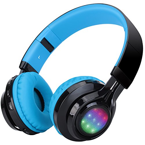 Bluetooth Headphones Riwbox Ct 7 Cat Ear Led Light Up